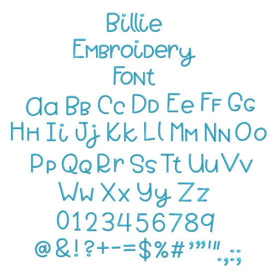 Billie Embroidery Font