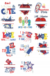 All American Applique Designs by JuJu Machine Embroidery Designs