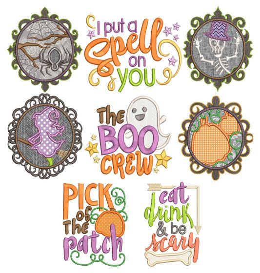 Fun Halloween Machine Embroidery Designs By JuJu