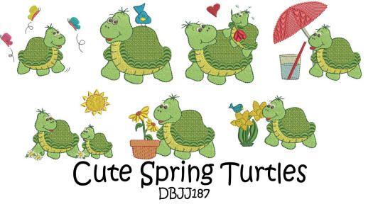 Cute Spring Turtles