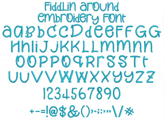 Fiddlin Around Embroidery Font