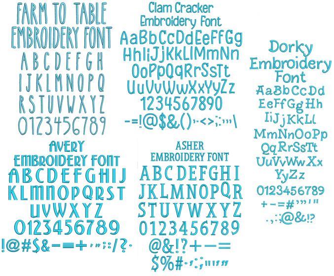 Quarter Inch Font Bundle 8