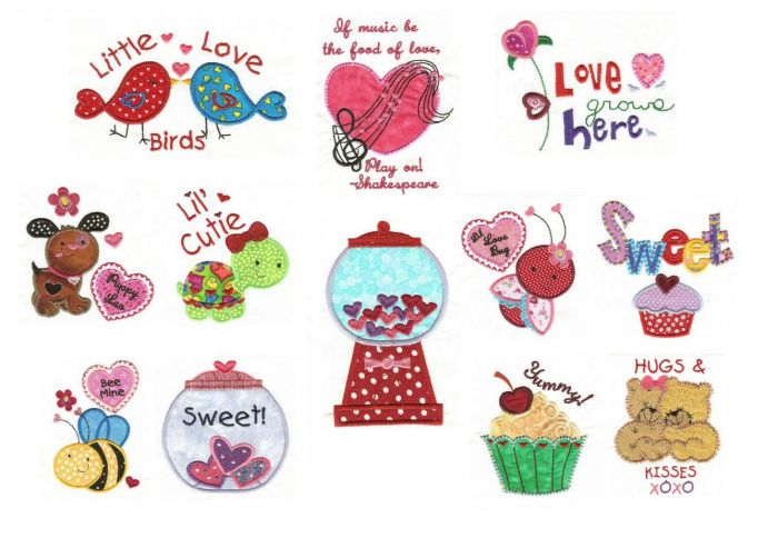 Sweet Valentine Applique