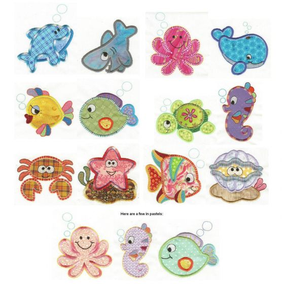 Critters of the Sea Applique