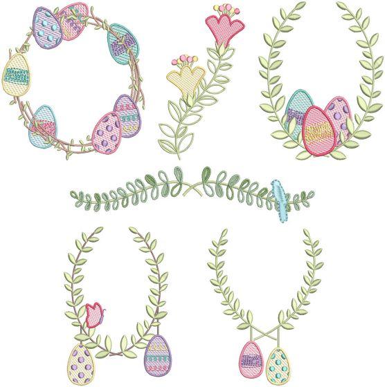 Easter Laurels Set 2