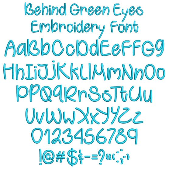 Behind Green Eyes Embroidery Font Machine Embroidery Designs By JuJu