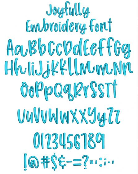 Joyfully Embroidery Font