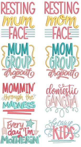 Mom's Life Word Art 2