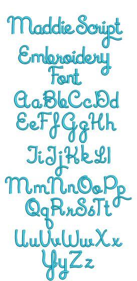 Maddie Script Embroidery Font Machine Embroidery Designs by JuJu