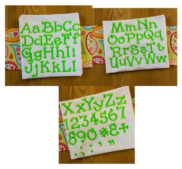 Jackson Embroidery Font machine embroidery designs by juju