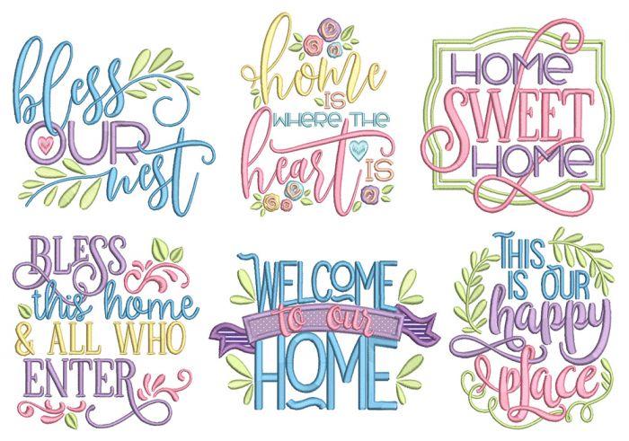 Happy Home Word Art