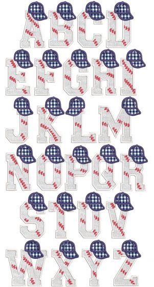 Baseball Hat Alphabet