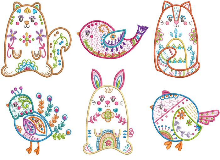 Folk Art Animals 1