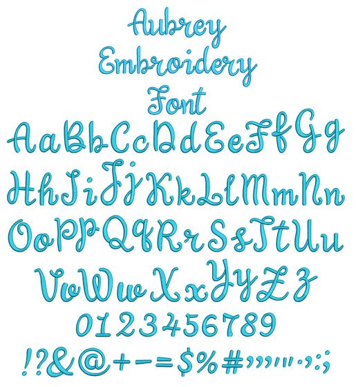 Aubrey Embroidery Font