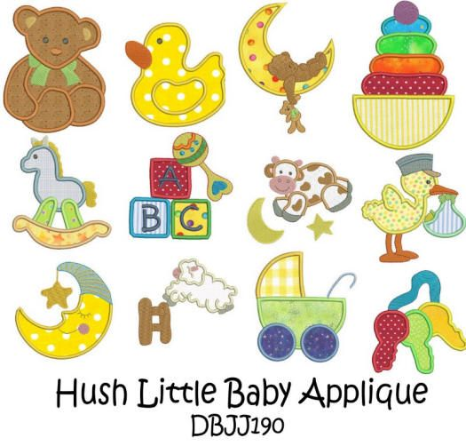 Hush Little Baby Applique