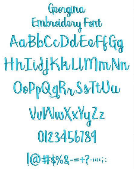Georgina Embroidery Font Machine Embroidery Designs By JuJu