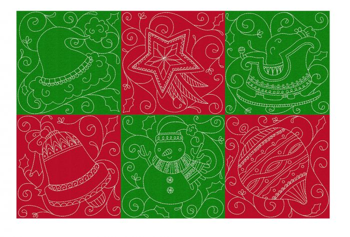 Christmas Quilt Blocks 2 Machine Embroidery Designs by JuJu