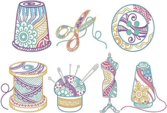 Mehndi Sewing Machine Embroidery Designs by JuJu