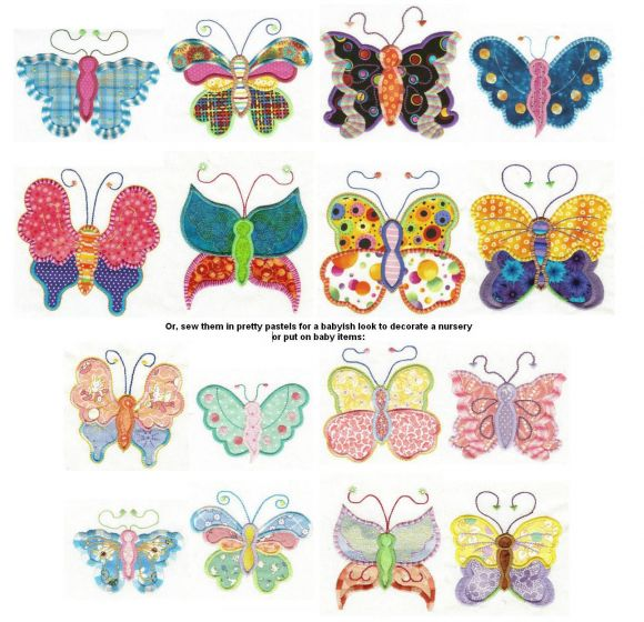 Fun Spring Butterflies Applique