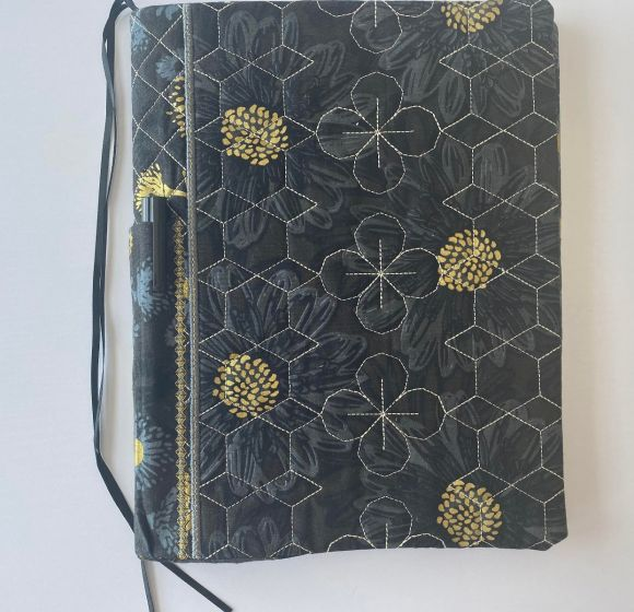 Quilted Standard Comosition Notebook Covers Set 4 Designs by JuJu In The Hoop Machine Embroidery Designs
