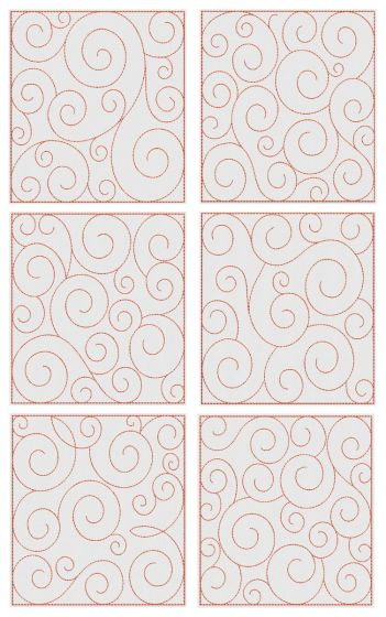 Swirly Quilt Blocks 1