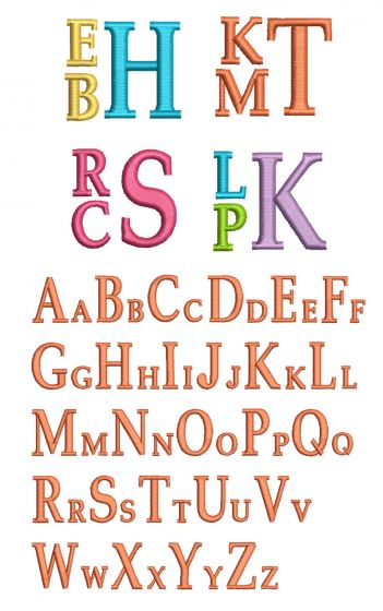 Stacked Monogram Alphabet Machine Embroidery Designs by JuJu