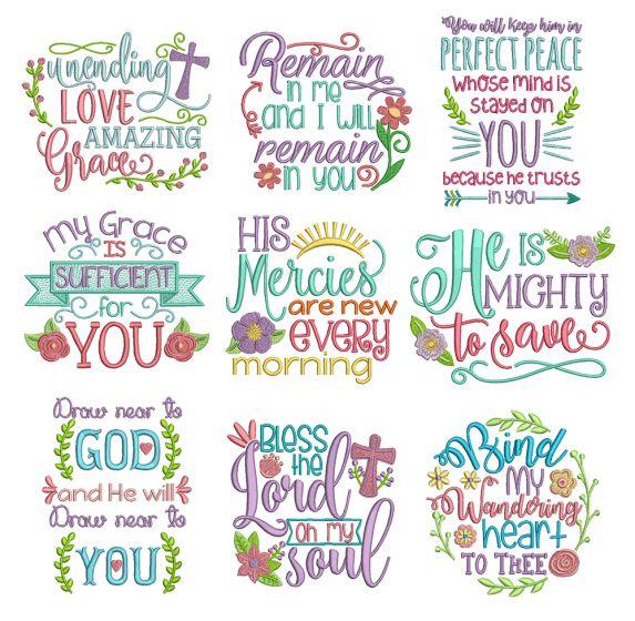Soulful Sayings Set 4 Machine Embroidery Designs by JuJu
