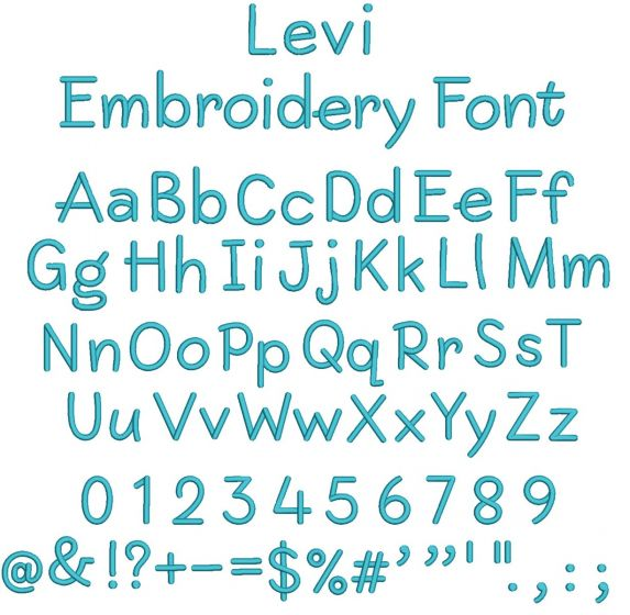 Levi Embroidery Font