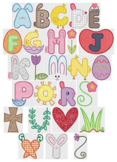 Easter Applique Alphabet
