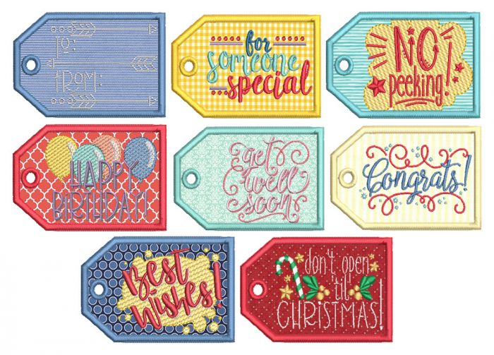 In The Hoop Gift Tags