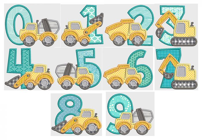 Construction Applique Numbers