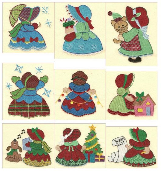 Sunbonnet Belles Christmas