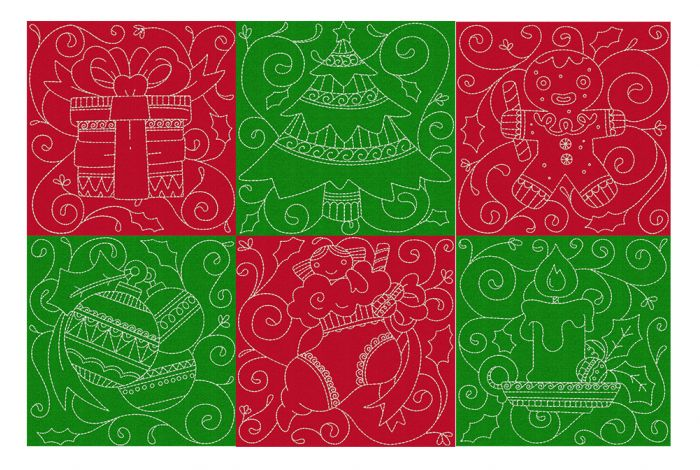 Christmas Quilt Blocks 1 Machine Embroidery Designs by JuJu