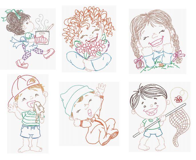 Cute Kids Vintage Stitch