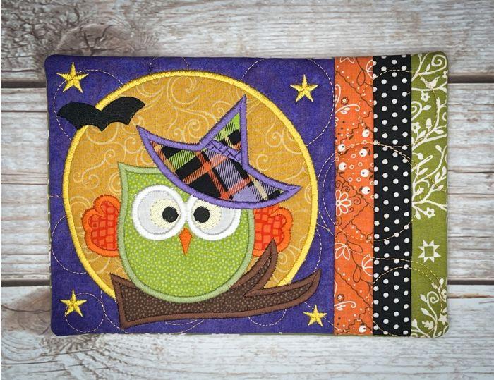 In The Hoop Halloween Owl Mug Rug