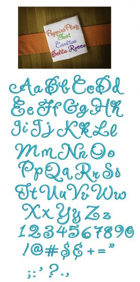 Puppies Play Embroidery Font Designs by JuJu