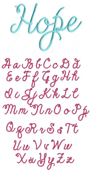 Cheerful Script Embroidery Font
