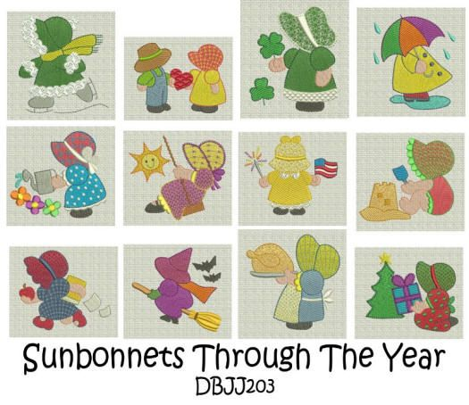 Sunbonnet Sue Through the Year