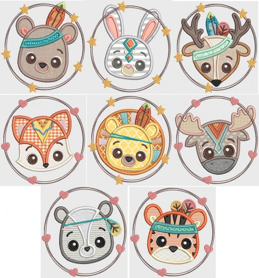 Tribal Baby Animal Faces