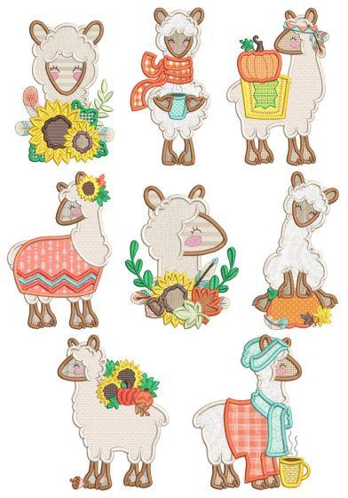 Autumn Llamas