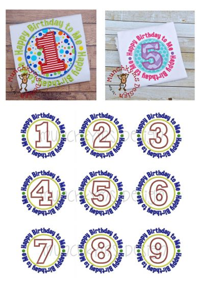 Happy Birthday To Me Applique Patch Designs by JuJu Machine Embroidery Designs