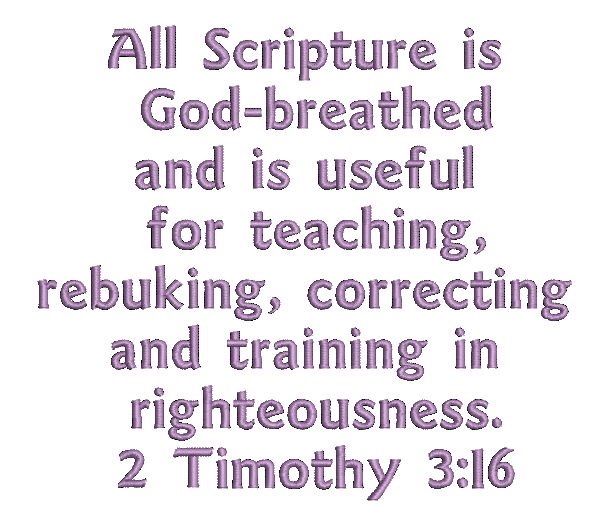 2 timothy 3:16 free bible verse machine embroidery design