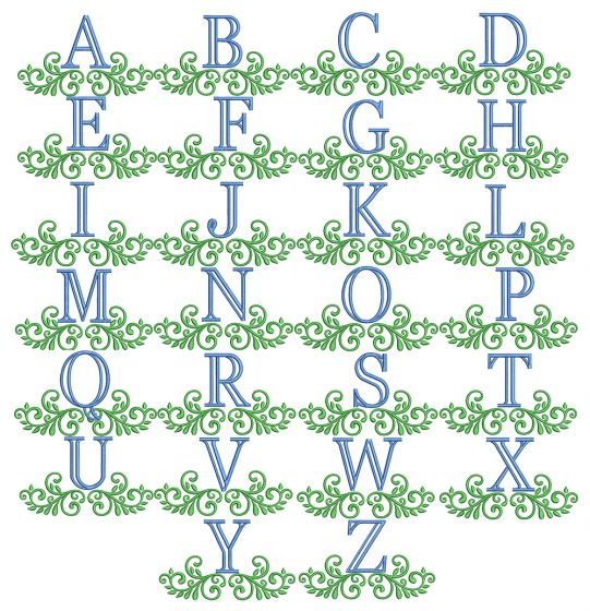 Prince Charles Monogram Machine Embroidery Designs By JuJu