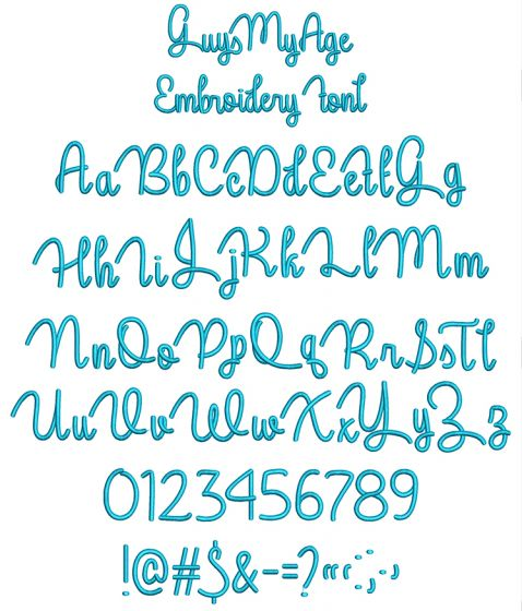 Guys My Age Embroidery Font Machine Embroidery Designs by JuJu
