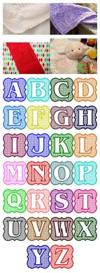 Embossed Frame Monogram Alphabet for machine embroidery by Designs by JuJu