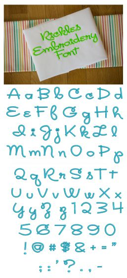 Rickles Embroidery Font Machine Embroidery Designs by JuJu Monograms and Alphabets