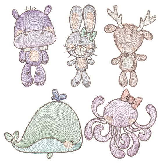 All The Critters Sketch 2