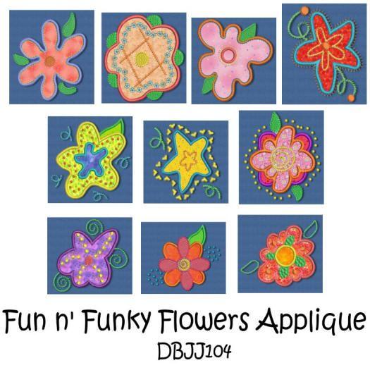 Fun N' Funky Flowers Applique