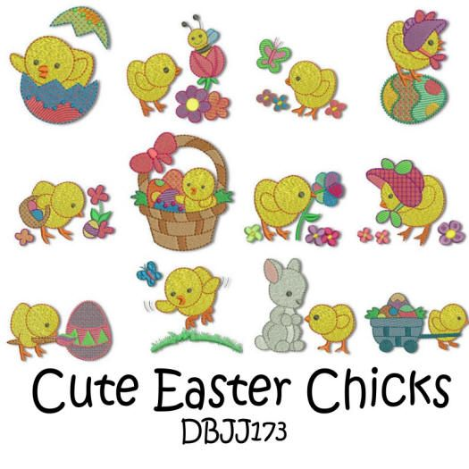 Cute Easter Chicks