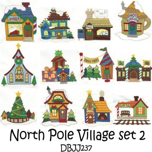 North Pole Village set 2